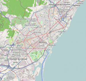 Barcelona: (Karta: Map data © OpenStreetMap contributors, CC-BY-SA)